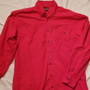 Land's End Red Button Up Shirt